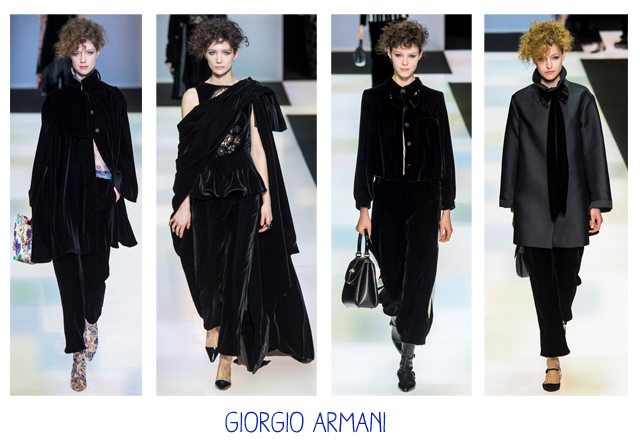 nero, black, giorgio armani, mfw, milano fashion week,